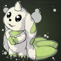 Terriermon - Day 1250 by Seracfrost