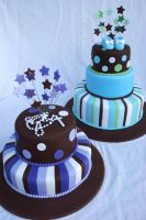 Christening Cakes with stripes by Verusca