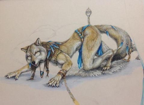 Chain me, cane Me, You'll Never Tame Me.   WIP 3 by teiirka