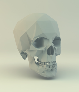Low Poly Skull by error-23