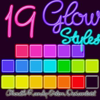 19 Glow Styles For Photoshop by UnlimitedPatrick
