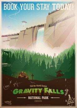 Gravity Falls National Park by ameba2k