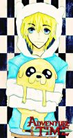 ADVENTURE TIME ! with finn and jake by FullOfCoal