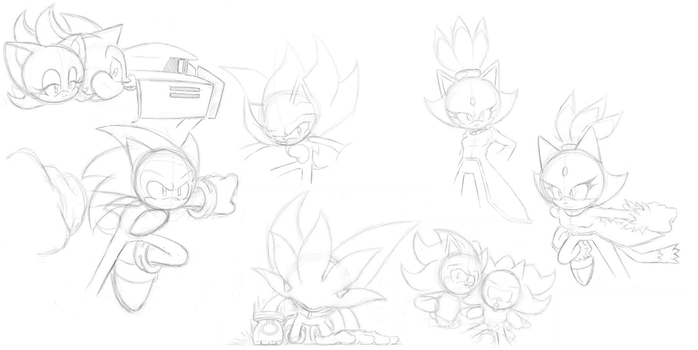 Sonic- Sketches. by bayocand