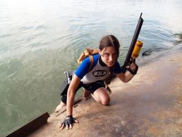 Lara Croft SOLA with harpoon by TanyaCroft