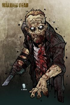 Zombie Merle Dixon print by Dany-Morales