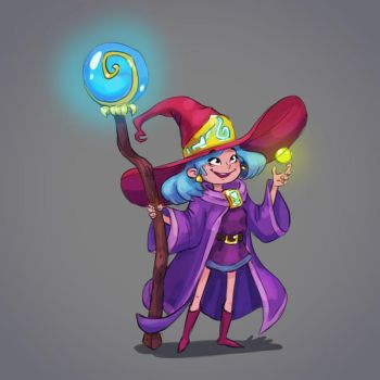 Magic Witch character design concept by Pykodelbi