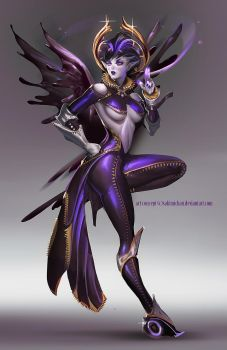 Nightmare Lust Faerie rough Concept by sakimichan
