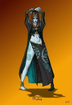 Midna - Coloured by CCGTheArtist