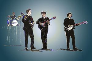 Beatles paint sketch by mozer1a0x