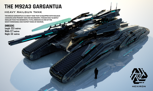 M92A3 Gargantua Heavy Railgun Tank (FULL HD) by Universe-of-Dusk