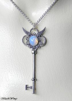Frosted Key by BlackWings-jewelry