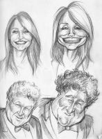 Caricature Sketches Page 1 by Carliihde