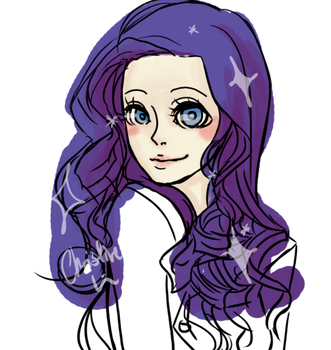 Rarity MLP humanized by Meaty-Flower