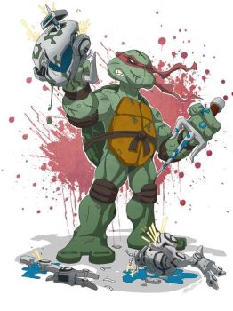 Ninja Turtle Raphael in colors by MarceloMatere