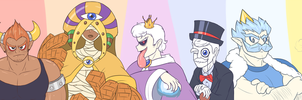 Super Mario 64 - Gijinka Bosses by Zieghost