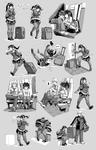 Nsio Pose Practice 7: Travelling Sayaka Tsuchimiya by Nsio