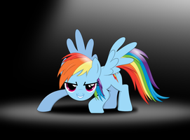 Rainbow Dash is ready to fly by tgolyi