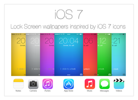 iOS 7 wallpapers inspired by icons by kamen911