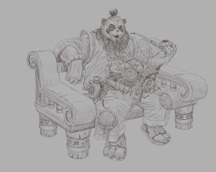 Pandaria  stories (sketch) by Woollywolf