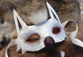 White Wolf Mask by Starjuice