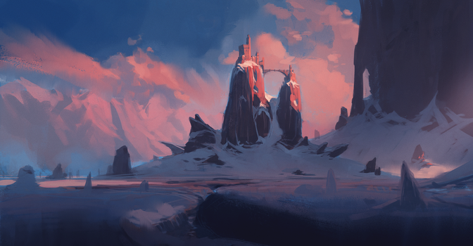 Isolated Temple + Process video by JeremyPaillotin
