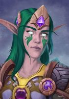 Night Elf World of Warcraft Commission by Naariel