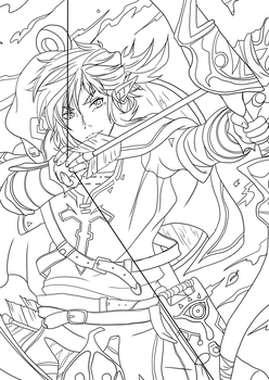 Link Breath of the wild - outlines by Sebbi-chan