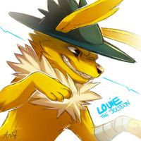 Louie the jolteon by Aishishi