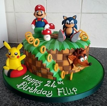 Gamers Cake! by clvmoore
