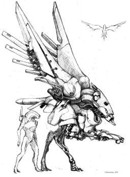 Geth vulture by Monopteryx