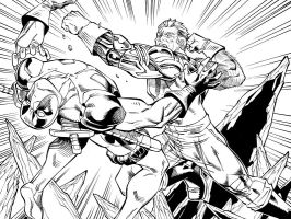 Deadpool vs Cable Split Second by ReillyBrown
