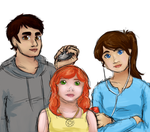 Brandon, Amy, and Kelsey by VividGrim
