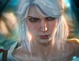 Ciri [Witcher 3 fanart] by SteamyTomato
