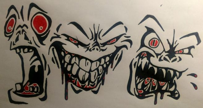 Creepy Faces by Sewing-1