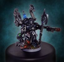 Techmarine Iron Hands chapter. Master of the forge by FidgetyBudgie