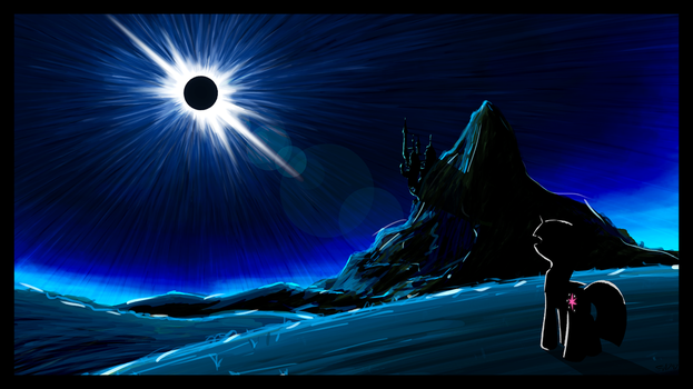 Solar Eclipse Over Equestria by flamevulture17