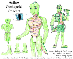 Anthro Gachapoid Concept by Ixbran