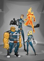 Fantastic Four Redesign by Mickey377