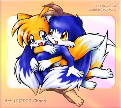 Tails and Klonoa by tailchana