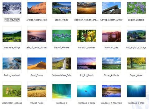 Official Windows 7 wallpapers by josemiguelgarcia