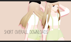 MMD:Cute Short Overall Downloads by ThisisKENZ
