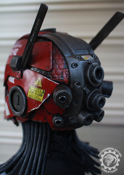 The Nexialist MkII helmet back (98% done) by TwoHornsUnited