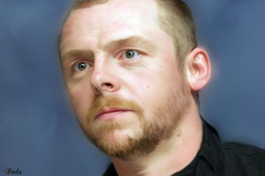 Simon Pegg - digital painting by admin-fadewillow