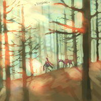 forest walking by Mao718
